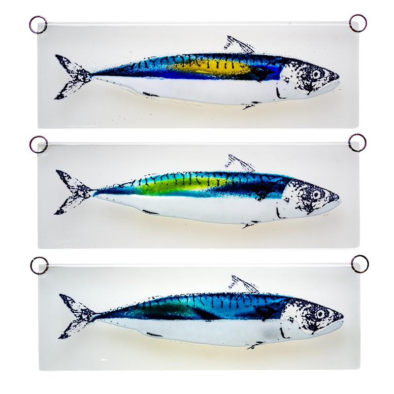 Makrel glasrelief, sæt