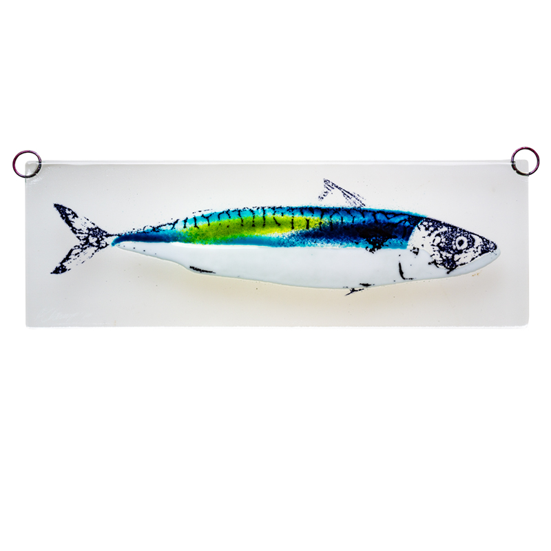 Makrel glasrelief, grøn