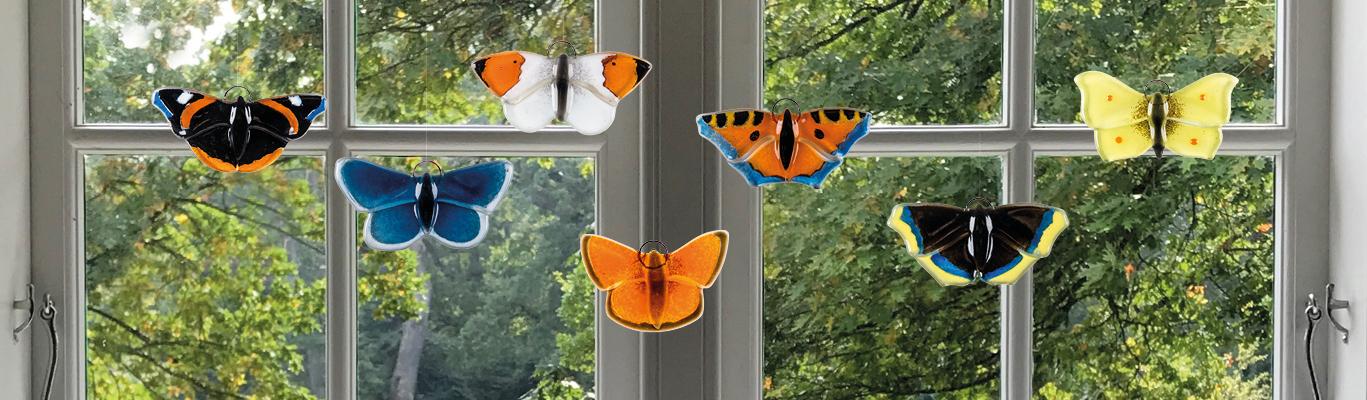 Glas sommerfugle